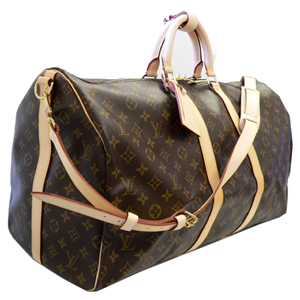 Louis Vuitton Monogram Keepall 55 with Shoulder M41414