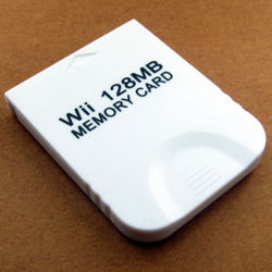 128 MB Memory Card For Wii Gamecube GC Game GAMES 128M