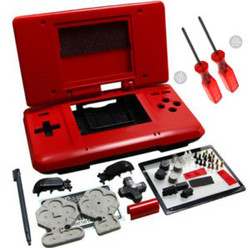 Red Full Housing Shell Case For Nintendo DS NDS New