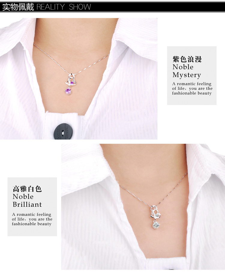 named brand necklace CZ noble gifts