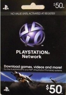 Permanently in stock Playstation Network Card Mnay In Stock US Server PSN $50 For PS3 & PSP Play station store