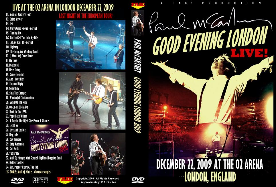 PAUL McCARTNEY LONDON UK ENGLAND O2 ARENA 2009 DVD