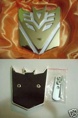 Car Front Emblem Badge Transformers Decepticon