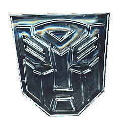 "Transformers Emblem Badge Sticker Chrome Autobot 3"""