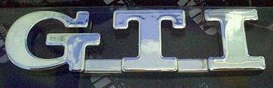 Car Chrome Badge Emblem Sticker GTI VW Golf U.S. SELLER