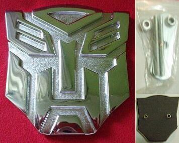 Car Emblem Badge Transformers Autobot SILVER CHROME