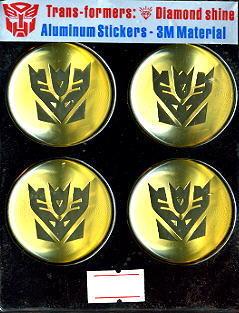 Car Emblem Badge Transformers Decepticon 4 Pcs GOLD US.