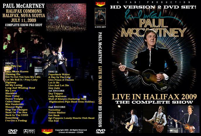 PAUL McCARTNEY HALIFAX 2009 2 DVD SET in HD - the best