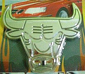 Car Chrome Badge Emblem Sticker Silver Bull