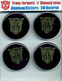 Car Emblem Badge Transformers Autobot 4 Pcs BLACK