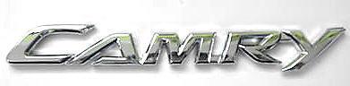 """Car Chrome Badge Emblem Sticker Toyota """"CAMRY"""" Logo"""