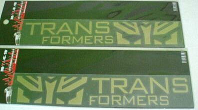 Car Sticker Decal 2pcs Gold Transformers Autobot 24x4
