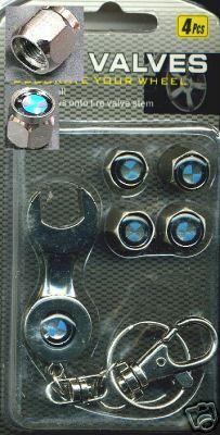 BMW Aluminium Tire Valve Cover Cap ~ 4 Pcs Set ~