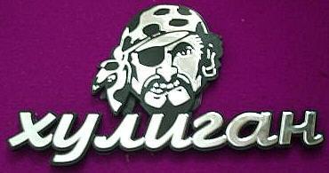 Car Chrome Badge Emblem Sticker Pirate Head