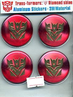 Car Emblem Badge Transformers Decepticon 4 Pcs RED U.S.