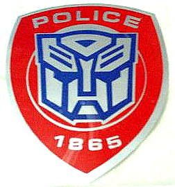 Car Sticker Decal Transformers Autobot Police ~RED~