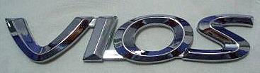 """Car Chrome Badge Emblem Sticker TOYOTA """"VIOS"""""""