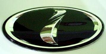"Car Chrome Badge Emblem ""i"" for Subaru STI WRX 3D BLACK"