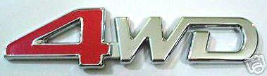 Car Chrome Emblem Badge Sticker - 4WD - US SELLER