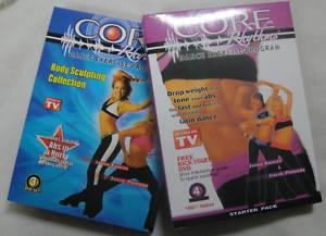 CORE RHYTHMS STARTER BOXSET + BODY SCULPT SET * 7 DVDS