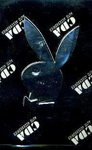 "Car Chrome Badge Emblem Silver ""Playboy"" Logo US SELLER"