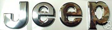 6 Inchs Car Chrome Emblem Badge Sticker - JEEP -