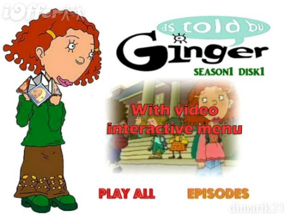 As told by Ginger Complete TV series on 9 dvds