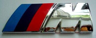 Car Chrome Emblem Badge Sticker BMW M M3 M5 ~US SELLER~