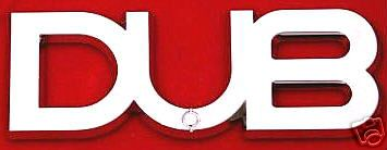 Car Chrome Emblem Badge Sticker - DUB - US SELLER