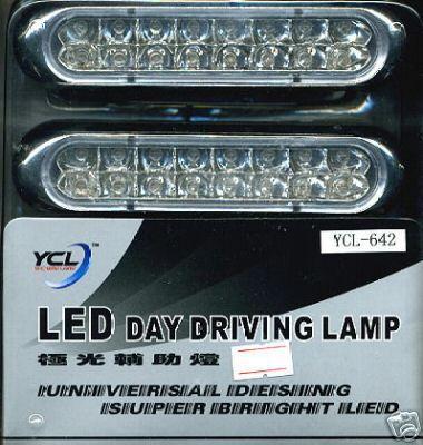 Super 6 LED Sports Day Light Car Universal Blue Lamp