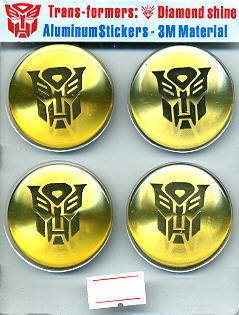 Car Emblem Badge Transformers Autobot 4 Pcs GOLD U.S.
