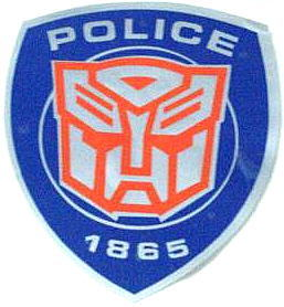 Car Sticker Decal Transformers Autobot Police ~BLUE~