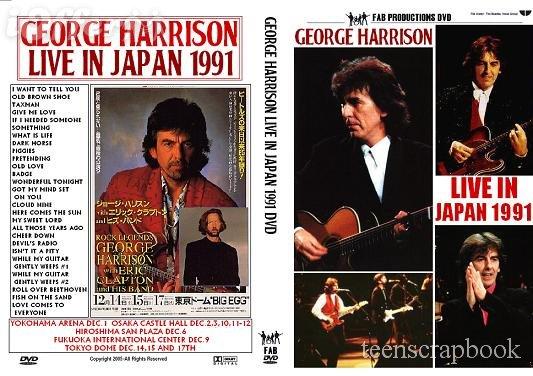 GEORGE HARRISON LIVE IN JAPAN 1991 DVD Beatles