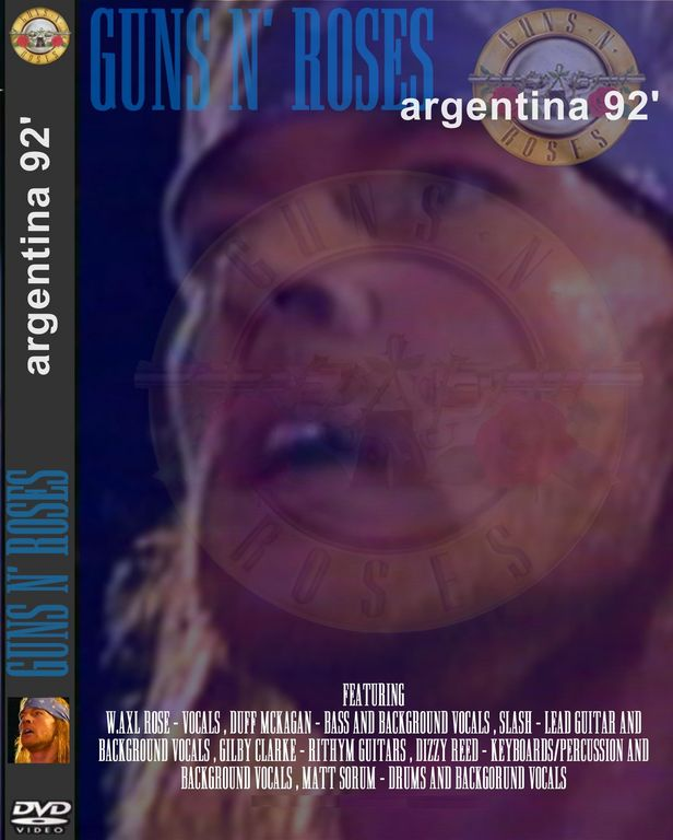 GUNS N' ROSES LIVE IN ARGENTINA 1992 DVD