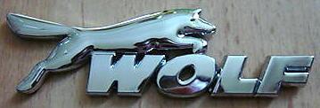 Car Chrome Badge Emblem Sticker 'WOLF' Focus