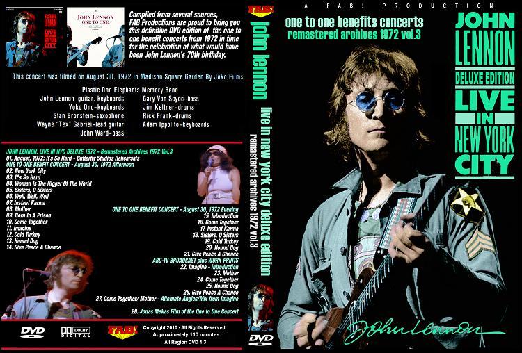 JOHN LENNON LIVE IN New York City DELUXE 1972 DVD