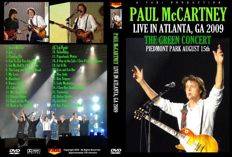 PAUL McCARTNEY LIVE ATLANTA, GA 2009 Piedmont Park DVD