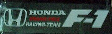 Car Sticker Decal Emblem Reflect HONDA F-1 Racing Team