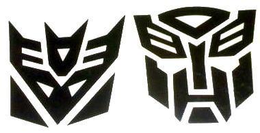 Car Sticker Decal Transformers Autobot & Decepticon Set