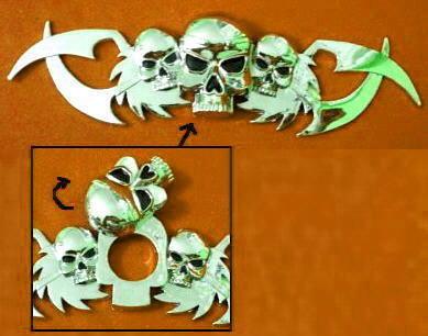 Car Chrome Badge Emblem Sticker Skeleton Skull Head