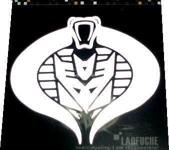 Reflective Car Sticker ~Snake Transformers Decepticon~