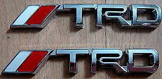 Car Chrome Badge Emblem Sticker TRD Toyota Racing SMALL