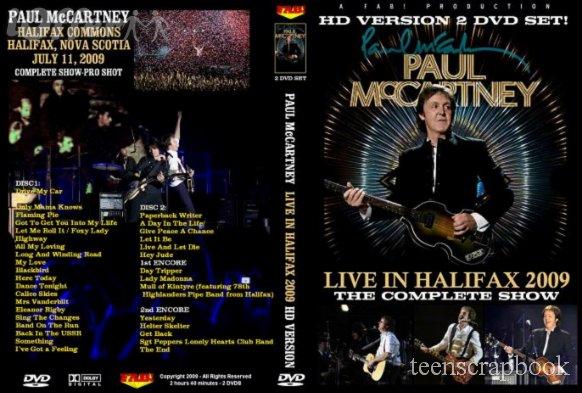 PAUL McCARTNEY HALIFAX 2009 2 DVD SET in HIGH DEF!