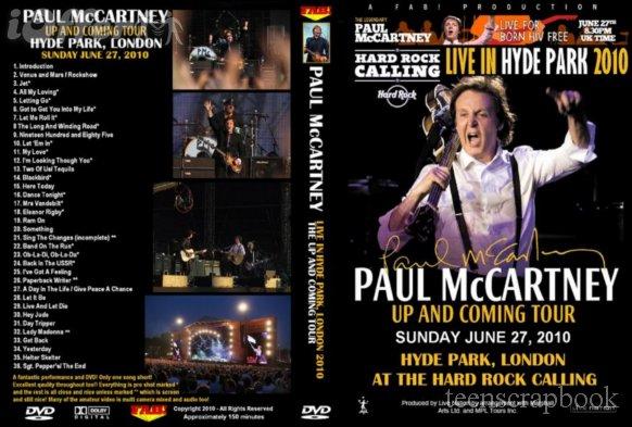 PAUL McCARTNEY HYDE PARK 2010 Hard Rock Calling DVD