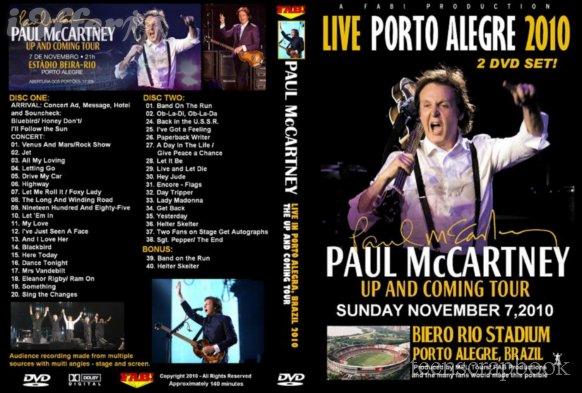 PAUL McCARTNEY PORTO ALEGRE BRAZIL NOV 7 2010 2 DVD