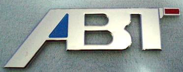 "Car Chrome Badge Emblem Sticker ""ABT"" Audi VW GTI Golf"