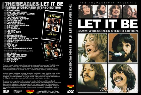 THE BEATLES - LET IT BE 35mm Widescreen Stereo DVD