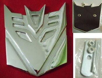 Car Emblem Badge Transformers Decepticon SILVER CHROME