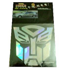 "Car Sticker Decal 5"" Reflective Transformers Autobot"