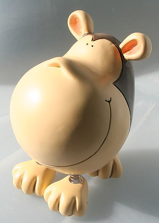 Spring LEG BIG Head Monkey Piggy Bank - Funky